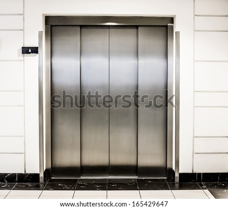 elevator door in a modern building