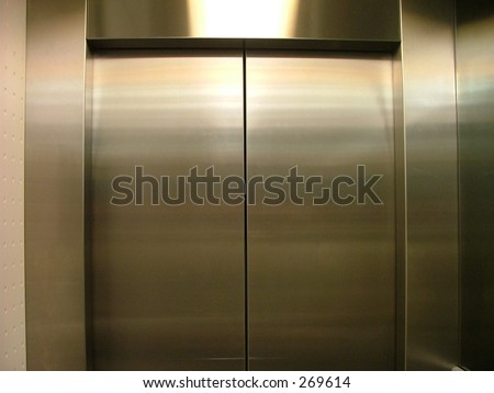 elevator doors - stock photo
