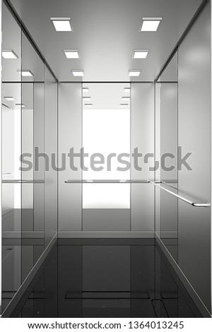 elevator, elevator car, elevator door