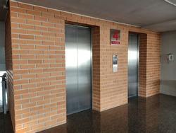 elevator in the building on 4 floor