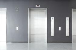 Elevator, Metal Elevator, waiting Elevator