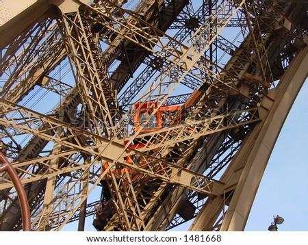 Elevator of Eiffel Tower Paris