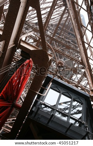 Elevator of Eiffel Tower, Paris