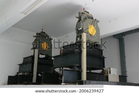 Elevator Parts Traction Machine,Lift Motor,Lift Machine. Stockfoto ©
