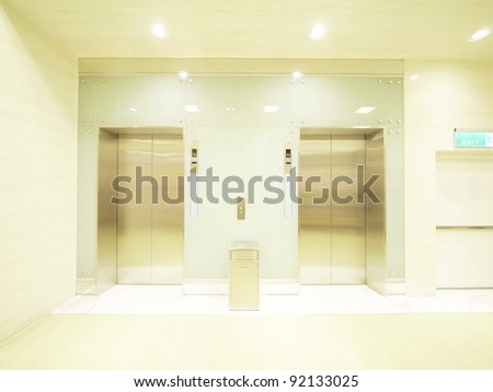 Elevator waiting room - stock photo