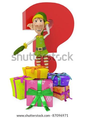 elf the santa helper cartoon in where is your present