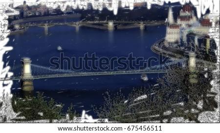Elizabet Bridge-Budapest Stock fotó ©
