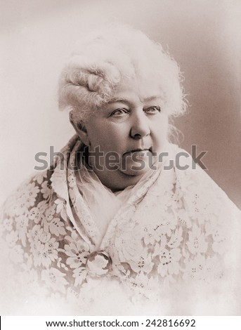 Elizabeth Cady Stanton (1815-1902), important leader of the 19th century women's rights movement in the United States. Portrait ca. 1890. Zdjęcia stock ©