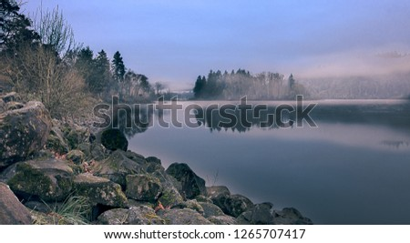 Elk Rock Island and the Willamette River at dawn