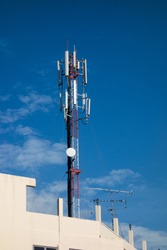 ell Phone Tower on top of the building