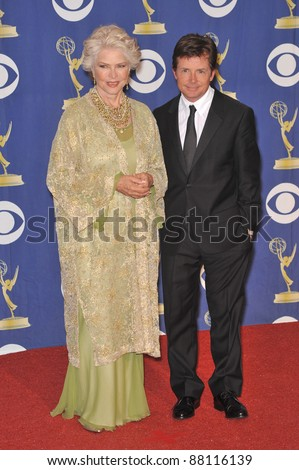 Ellen Burstyn & Michael J. Fox at the 61st Primetime Emmy Awards at the Nokia Theatre L.A. Live. September 20, 2009  Los Angeles, CA Picture: Paul Smith / Featureflash