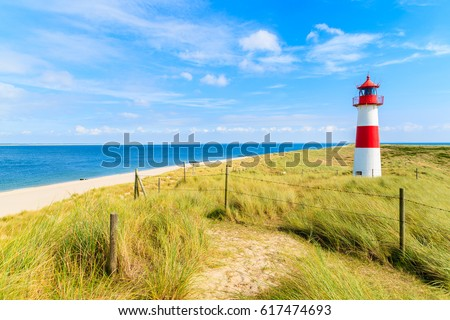 ellenbogen lighthouse on sand...