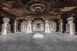 Ellora caves near Aurangabad, Maharashtra state in India