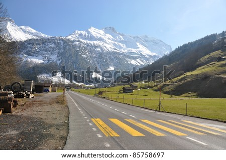 Elm region, Switzerland - stock photo