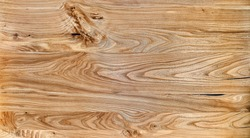 Elm slab texture. Wood texture. Live edge elm desk countertop in workshop