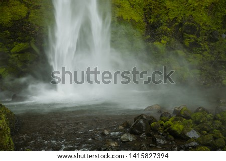 Elowah falls in the columbia River Gorge national scenic area, Oregon #1415827394