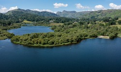Elterwater with the Langdale Pikes and Lingmoor Fell beyond