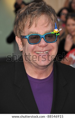 "Elton John at the world premiere of his new animated movie ""Gnomeo & Juliet"" at the El Capitan Theatre, Hollywood. January 23, 2011  Los Angeles, CA Picture: Paul Smith / Featureflash"