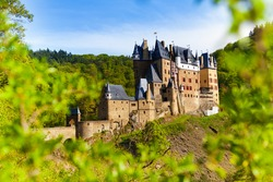 Eltz castle in Germany from the forest