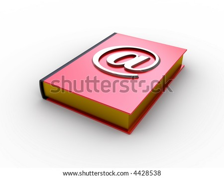 Email book (e-mail alias on the red book)