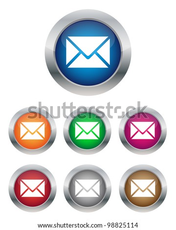 Email buttons. Vector available.