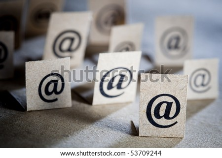 Email concept background with many e-mail symbols