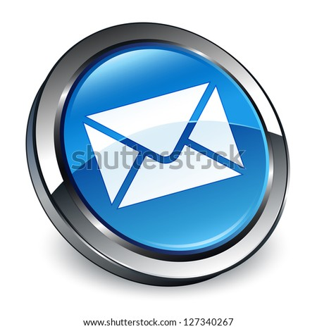 Email icon 3d blue button