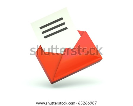 Email icon. Red series