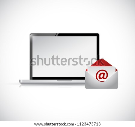 Email Marketing illustration. isolated over a white background