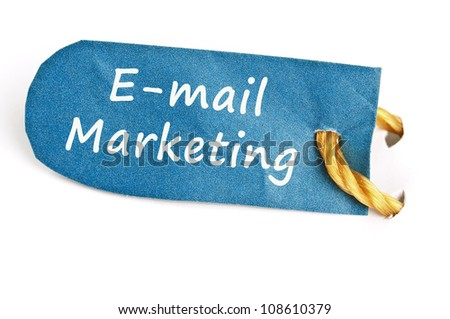 Email Marketing word on isolated label