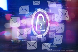 email security and encryption, cyber security internet and networking concept, anti spam