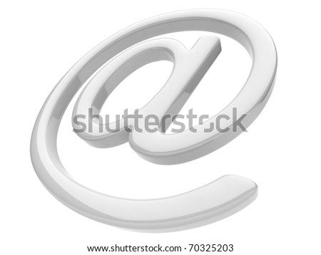 Email symbol 3D. Isolated on white background