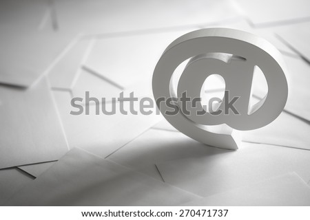 Email symbol on business letters concept for internet, contact us and e-mail address #270471737