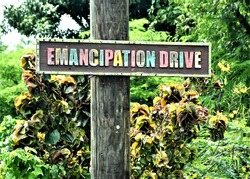 Emancipation Drive Street Sign, St. Croix USVI