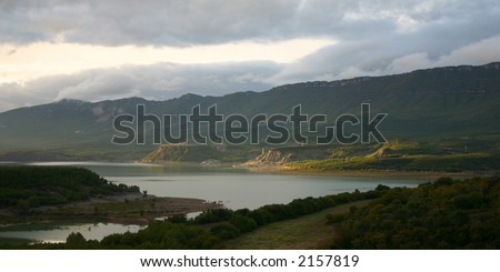 Embalse de Yesa, Aragon, Spain, planned enlargement is a big political and environmental issue.