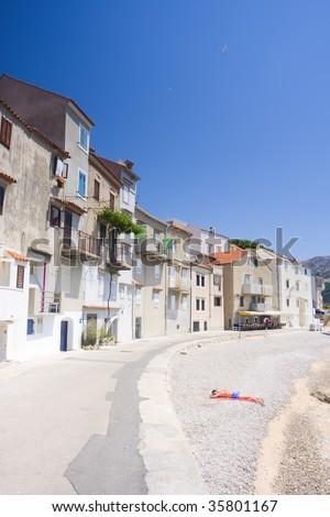 embankment in Baska, Croatia