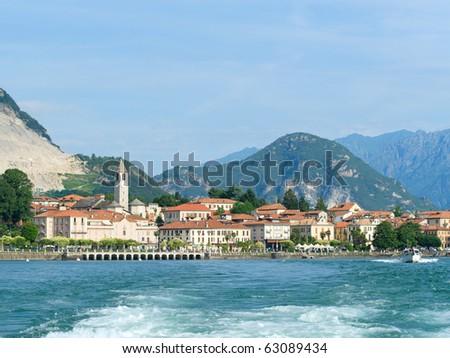 embankment of Baveno at the shore of Lago Maggiore