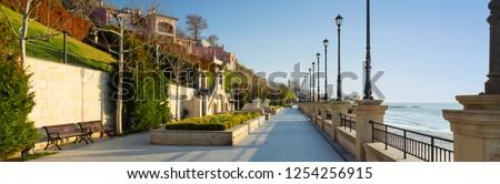 embankment of Black sea in Odessa in Ukraine #1254256915