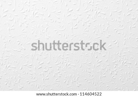 Embossed white paper with floral pattern
