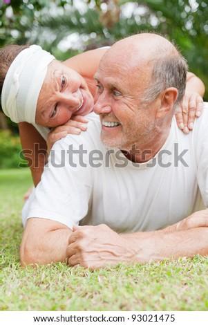 embracing senior  love