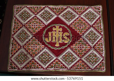 CLERICAL EMBROIDERY FABRIC PATTERN VESTMENTS