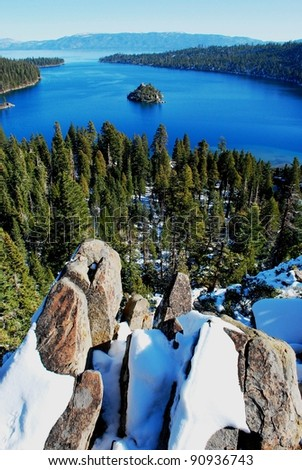 Emerald Bay Lake Tahoe in Winter