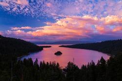 Emerald Bay sunset, Lake Tahoe