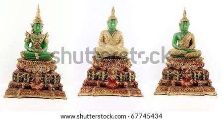 Emerald Buddha for three seasons - stock photo
