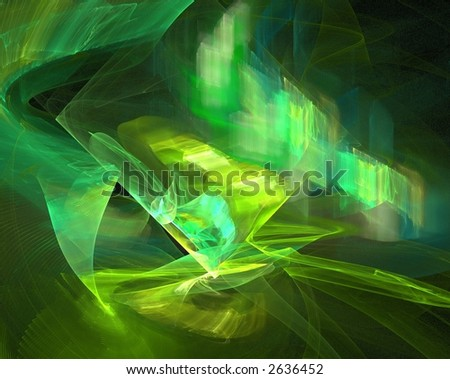 Emerald Green Fractal - stock photo
