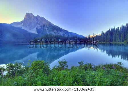 Emerald Lake Reflection, Yoho, Canadian Rockies