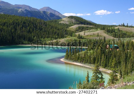 Emerald Lake, Yukon Territory (wide angle)