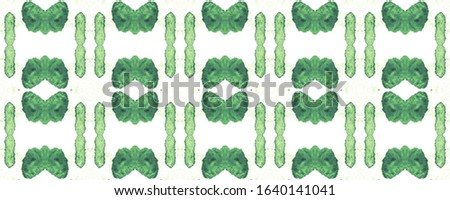 Emerald Repeatable Pattern. Repeatable Tribal Design. Sea Green Abstract Illustration. Exotic Trendy Material.  White and Green Stains. Basil Tracery Shape.