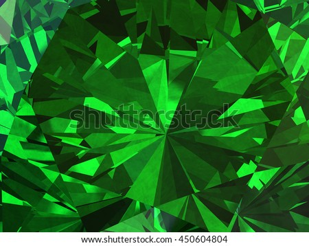 Emerald Texture background diamond 3d illustration.