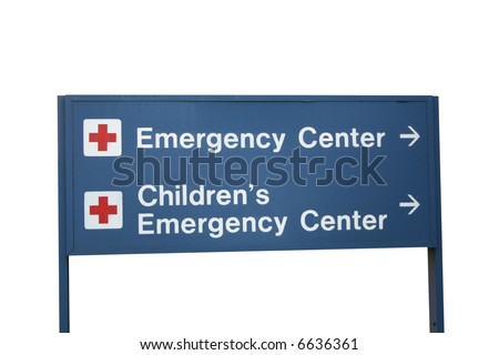 Emergency center and Children's Emergency center sign